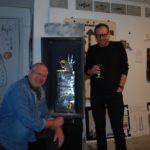 32. Frédéric Aeby (g.) et Marc-Antoine Naef (d.) lors de la création du reliquaire (Photo : Frédéric Aeby)
